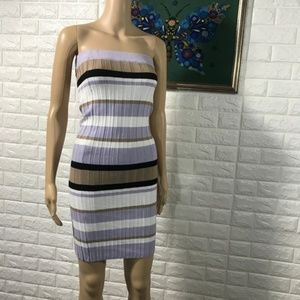 5/$25 TOPSHOP Purple Stripe  Dress Strapless